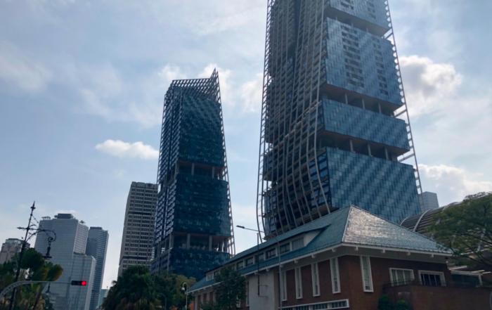 Fantazyjna architektura w Singapurze