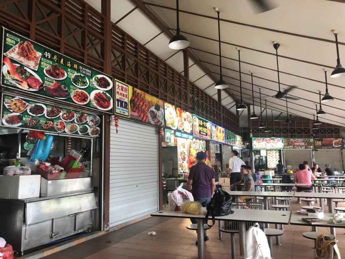 Jedzenie w Singapurze - mnóstwo owoców morza